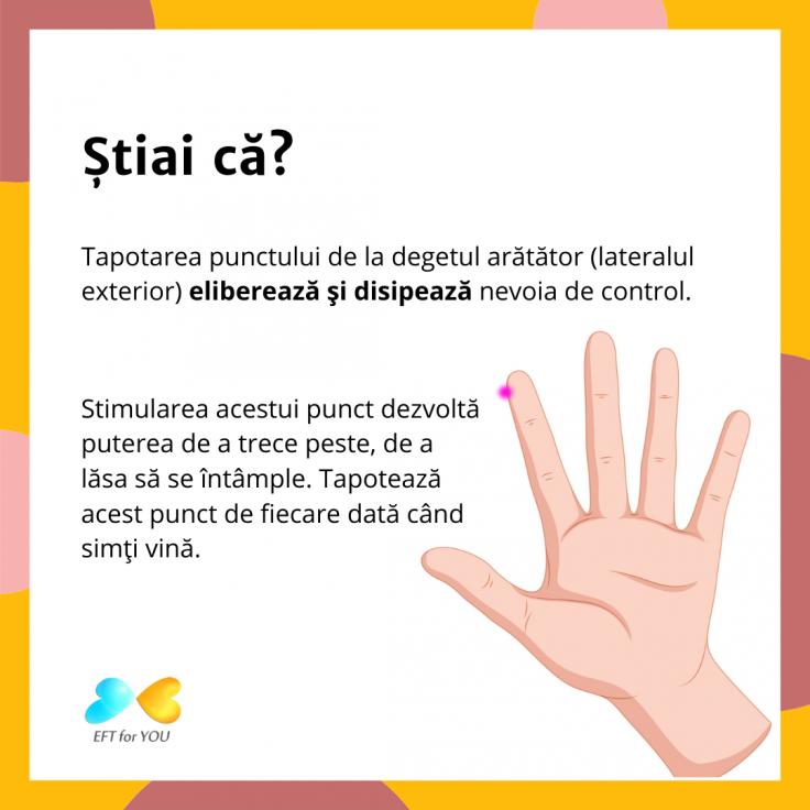 EFT punctul de la degetul arătator
