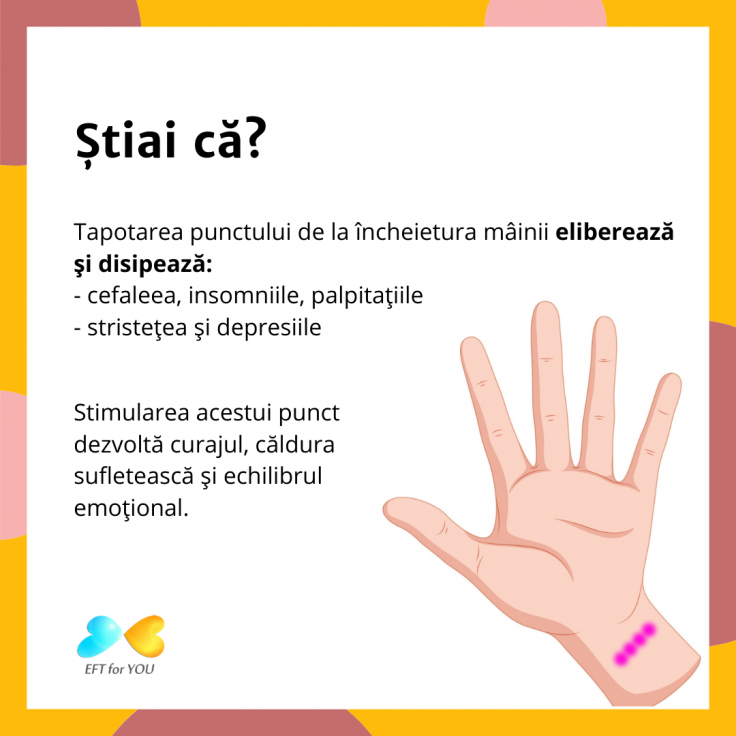 EFT punctul de la încheietura mâinii