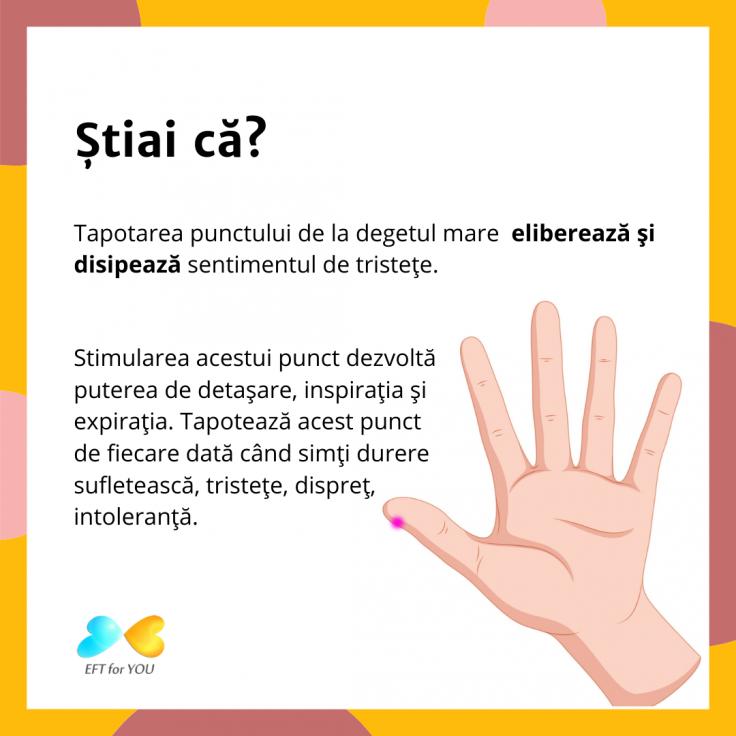 EFT  punctul de la degetul mare
